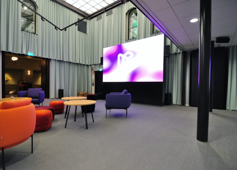Digital signage coworking LED Epicenter